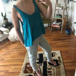 3.1 Phillip Lim Silk Turquoise Layered Tank Top